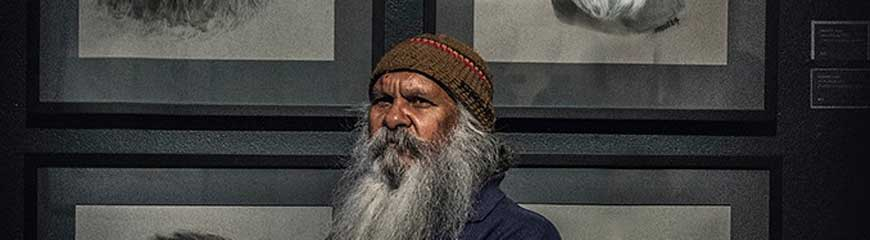 Head of Uncle Moogy - aboriginal man with big beard