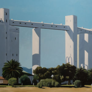 John Liebelt, An Im-mac-culate Conception Site, 1998 Acrylic on canvas 102 x 102 cm Winner of the 1998 Port Pirie Art Prize Photo by Tabitha Runkel, Port Pirie Cultural Precinct ©1998-2019 Port Pirie Regional Council All Rights Reserved.
