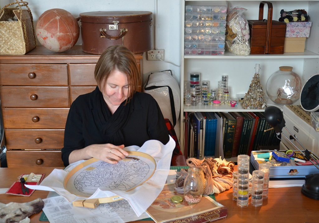 Sera Waters in her studio. Photograph Deidre But-Husaim